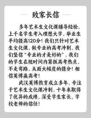 武汉艺术生文化课补习